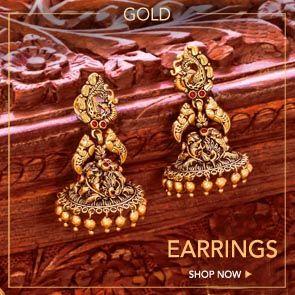 gold earrings designs for women