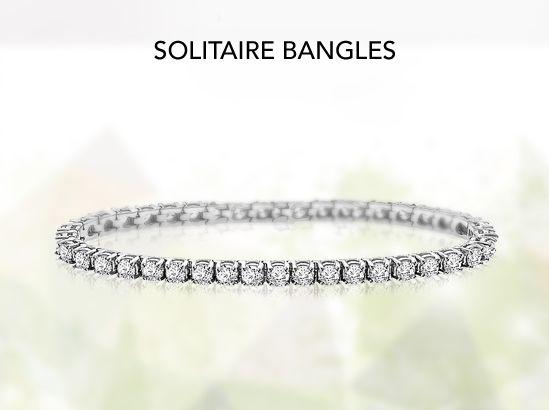 solitaire bangle bracelets